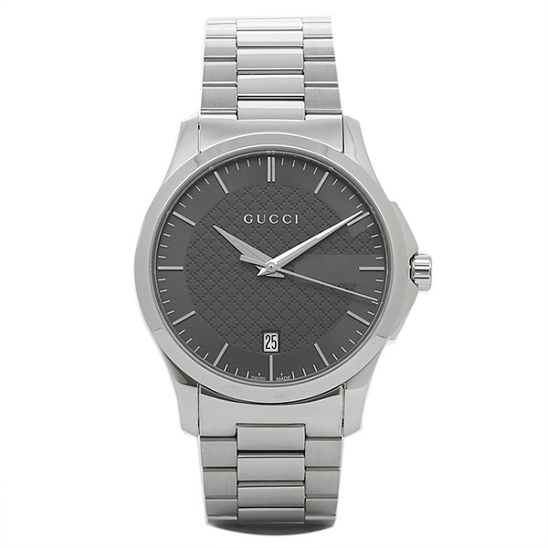 GUCCI 時計 メンズ グッチ YA126441 Gタイムレス 腕時計 ウォッチ シルバー/グレー