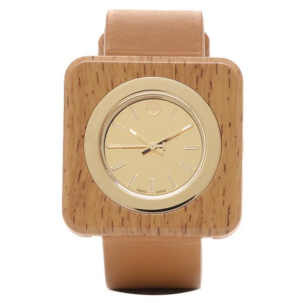 トリーバーチ 時計 レディース TORY BURCH TRB3007 IZZIE 日常生活防水 腕時計 ウォッチ イエロ-ゴ-ルド/ブラウン