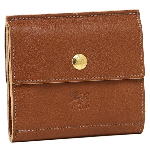 IL BISONTE 財布 レディース イルビゾンテ C0910 P 214 2つ折り財布 COGNAC