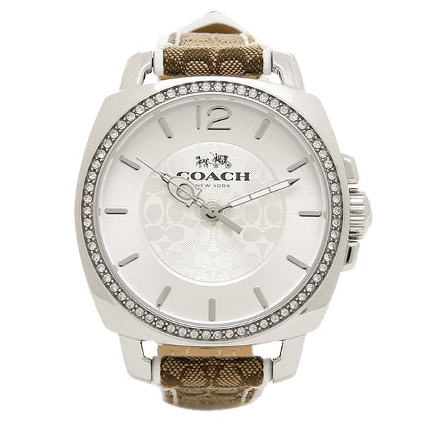 コーチ 時計 レディース COACH 14502416 BOYFRIEND ボーイフレンド シグネチャー 腕時計 ウォッチ シルバー/カーキー