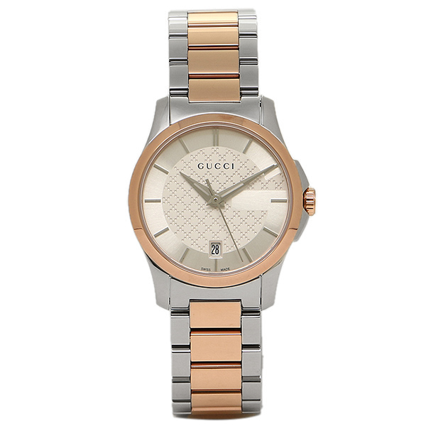 GUCCI 時計 レディース グッチ YA126528 Gタイムレス 腕時計 ウォッチ シルバーゴールド