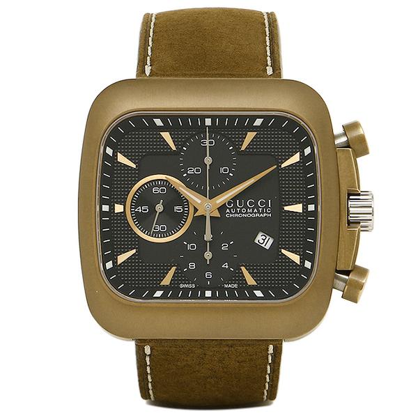 GUCCI 時計 メンズ グッチ YA131205 グッチクーペ 腕時計 ウォッチ ブラック/ブラウン