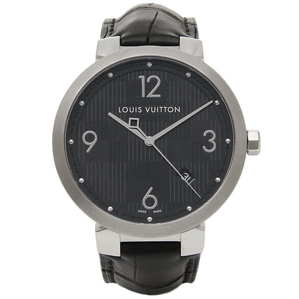 LOUIS VUITTON 時計 メンズ ルイヴィトン Q1D002 タンブールダミエ 腕時計 ウォッチ ブラック
