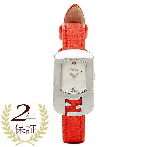 FENDI 時計 レディース フェンディ F300024574D1 カメレオン 腕時計 ウォッチ ホワイト/レッド