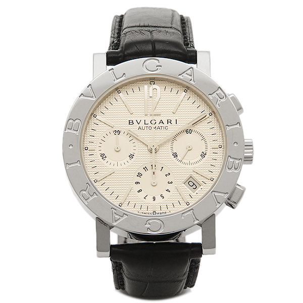 BVLGARI 時計 メンズ ブルガリ BB38WSLDCH ブルガリ ブルガリ クロノグラフ 腕時計 ウォッチ ホワイト/シルバー/ブラック