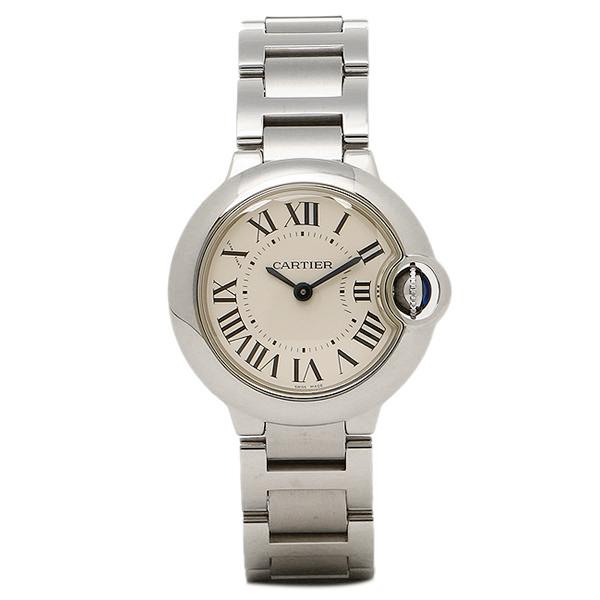 カルティエ 時計 レディース CARTIER W69010Z4 バロンブルー SS 腕時計 ウォッチ シルバー/ホワイト