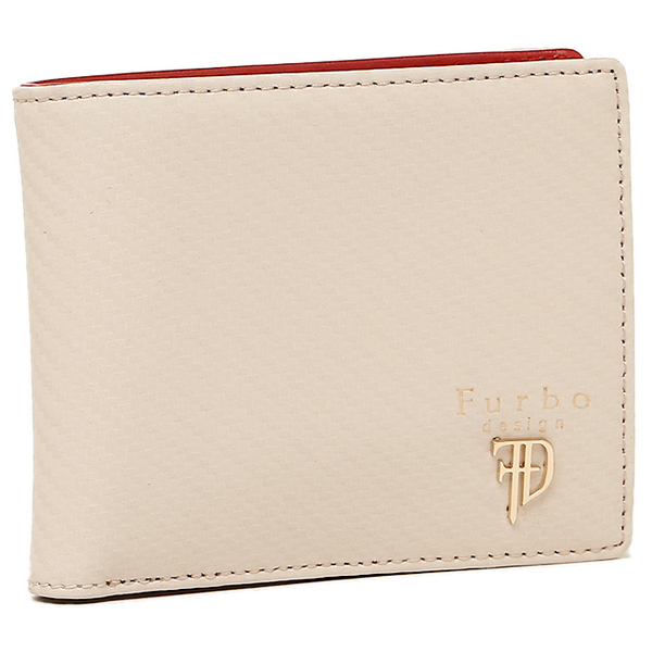 Furbo design 財布 フルボデザイン FRB113 GEAR CARBON ギアカーボン メンズ 二つ折り財布 WHITE/RED