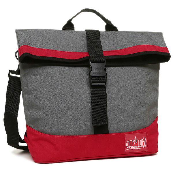 マンハッタンポーテージ ショルダーバック MANHATTAN PORTAGE MP1245 GRAY/RED DOUBLE DARE CONVERTIBLE 2WAYバッグ GRAY/RED