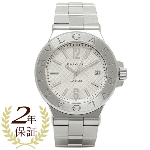 BVLGARI 時計 ブルガリ DG40C6SSD ディアゴノ 自動巻き メンズ腕時計 ウォッチ シルバー/ホワイト