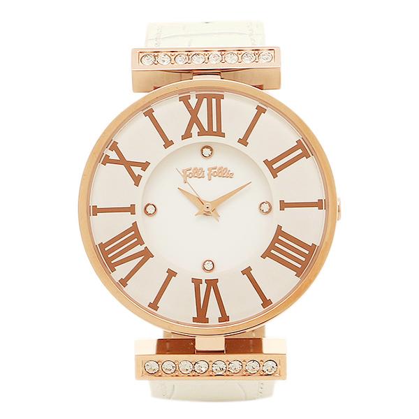 FOLLI FOLLIE 時計 フォリフォリ WF1B029SSSWH ダイナスティ DYNASTY レディース腕時計ウォッチ ホワイト/ピンクゴールド