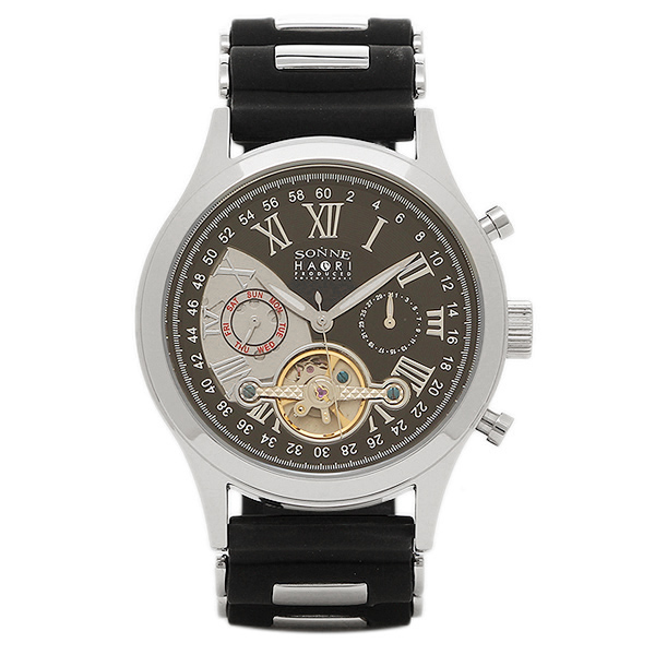 ゾンネ 時計 SONNE H016SS BK ハオリ HAORI 自動巻き メンズ腕時計 ウォッチ ブラック/シルバー