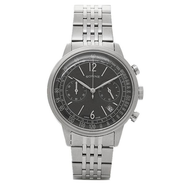 SONNE ゾンネ 時計 HI002BK 2レジスター40S ヒストリカルコレクション メンズ腕時計 ウォッチ ブラック/シルバー
