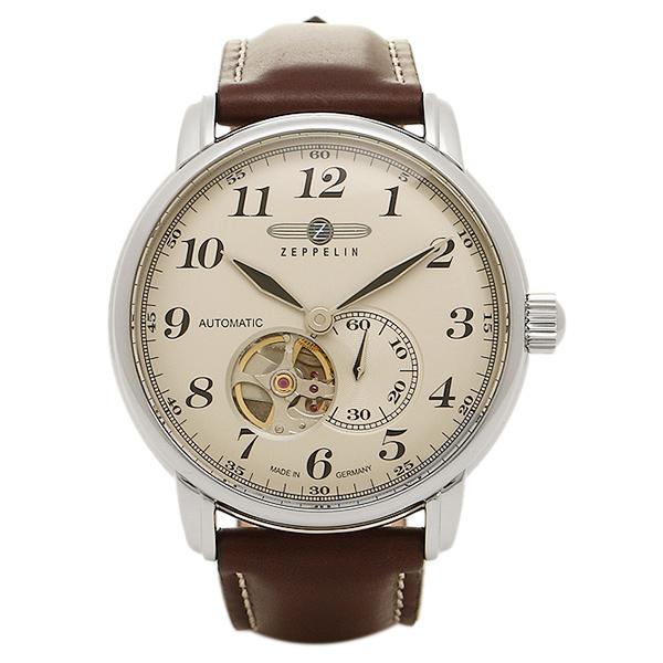ZEPPELIN ツェッペリン 時計 76665 グラーフ 自動巻き メンズ腕時計 ウォッチ アイボリー/シルバー/ブラウン