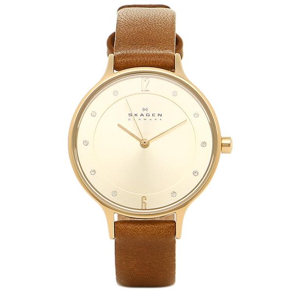 スカーゲン 時計 SKAGEN SKW2147 ANITA アニタ レディース腕時計ウォッチ ブラウン/シャンパンゴールド