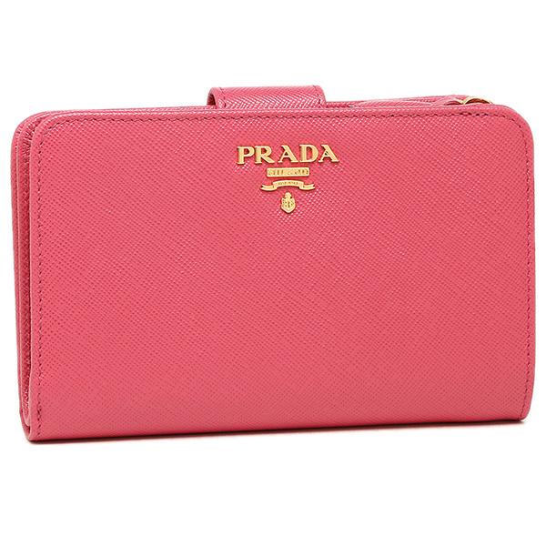 PRADA プラダ 財布 レディース 1ML225 QWA F0505 SAFFIANO METAL 二つ折り財布 PEONIA