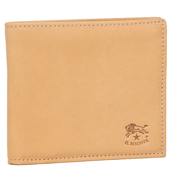 IL BISONTE 財布 イルビゾンテ C0487 MP 120 メンズ 二つ折り財布 NATURAL