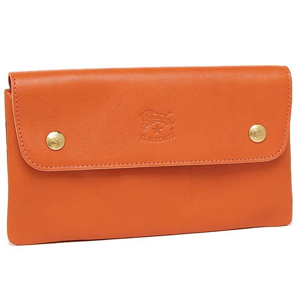 IL BISONTE 財布 レディース イルビゾンテ C0986 P 166 長財布 ORANGE
