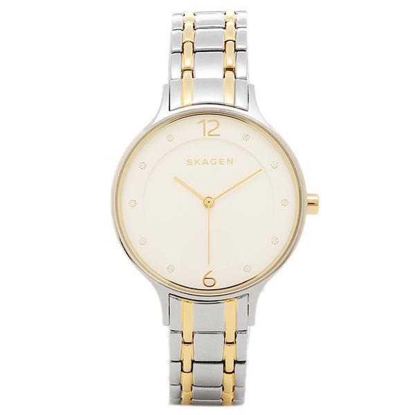 スカーゲン 時計 SKAGEN SKW2321 ANITA アニタ レディース腕時計ウォッチ シルバ-/ホワイト/ゴ-ルド