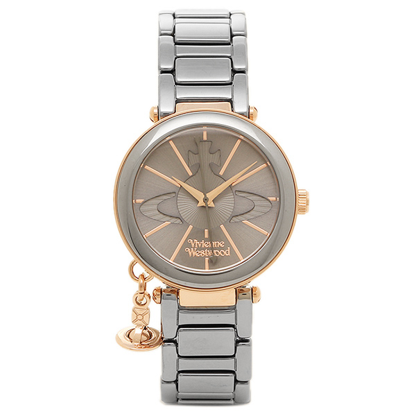 VIVIENNE WESTWOOD ヴィヴィアンウエストウッド 時計 VV067SLTI ケンジントン レディース腕時計ウォッチ ガンメタ/ローズゴールド