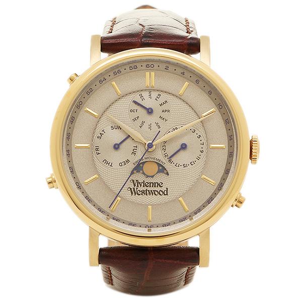 VIVIENNE WESTWOOD ヴィヴィアンウエストウッド 時計 VV164CHBR ポートランド メンズ腕時計 ウォッチ ホワイト/ゴールド/ダークブラウン