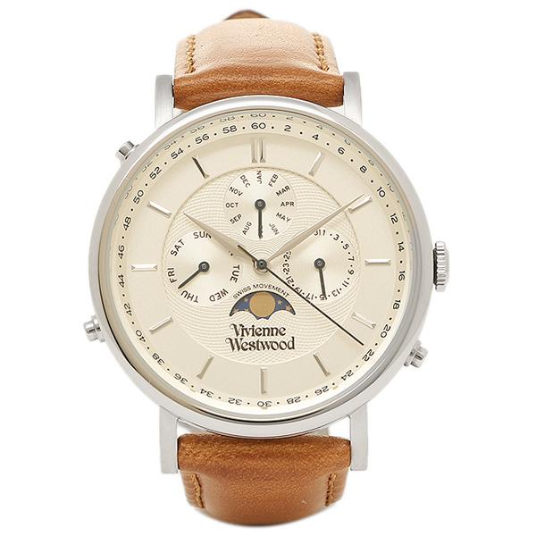 VIVIENNE WESTWOOD ヴィヴィアンウエストウッド 時計 VV164SLTN ポートランド メンズ腕時計 ウォッチ ホワイト/シルバー/ブラウン