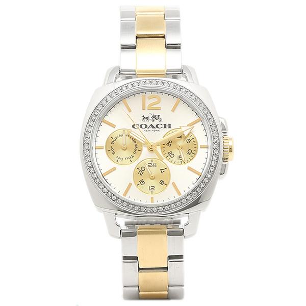 コーチ 時計 COACH 14502129 BOYFRIEND SMALL ボーイフレンドミニ レディース腕時計ウォッチ シルバー/イエローゴールド