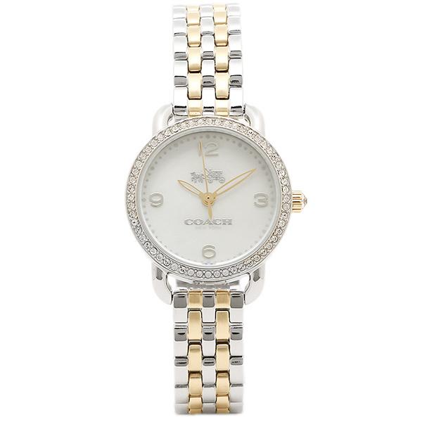 コーチ 時計 COACH 14502480 DELANCEY SMALL デランシーミニ レディース腕時計ウォッチ ホワイトパール/シルバー/イエローゴールド