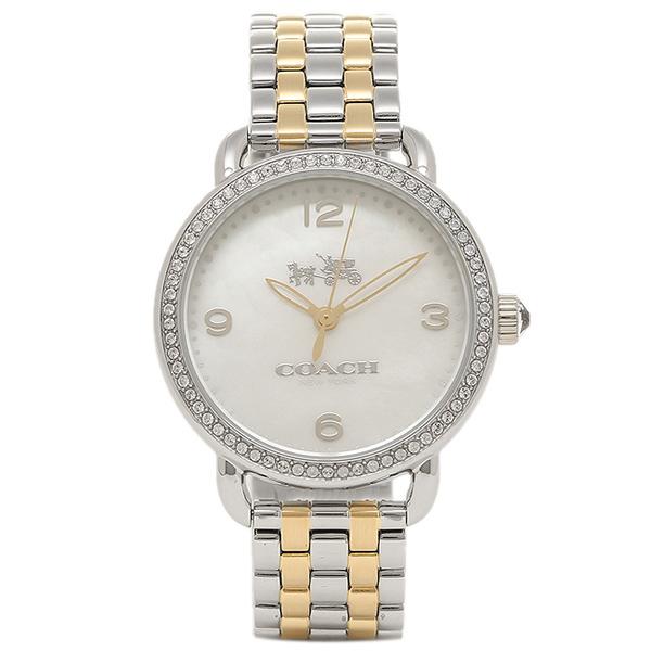 コーチ 時計 COACH 14502484 DELANCEY デランシー レディース腕時計ウォッチ ホワイトパール/シルバー/イエローゴールド