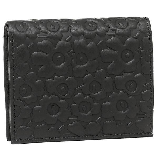 マリメッコ 財布 レディース MARIMEKKO 043650 999 カトリ KATRI 三つ折り財布 BLACK