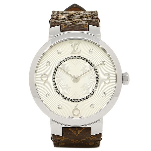 LOUIS VUITTON 腕時計 ルイヴィトン Q13MJB モノグラム シルバー