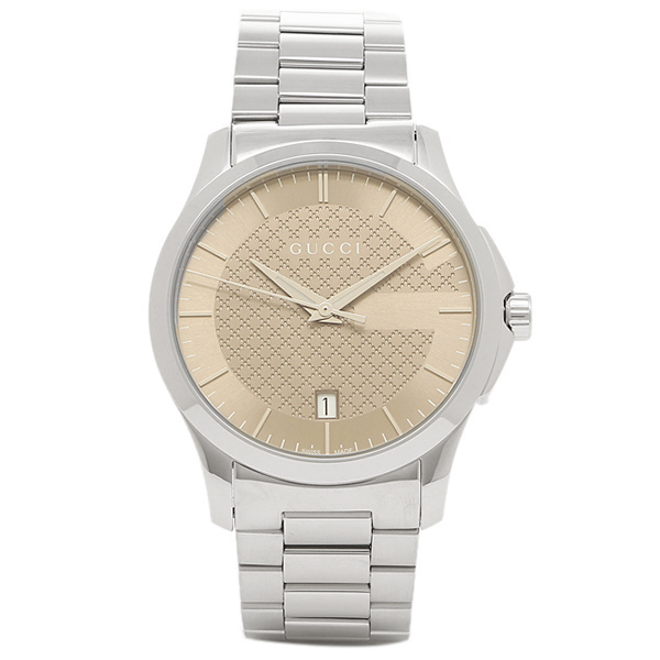 GUCCI 時計 グッチ YA126445 Gタイムレス メンズ腕時計 ウォッチ シルバー/ブラウン
