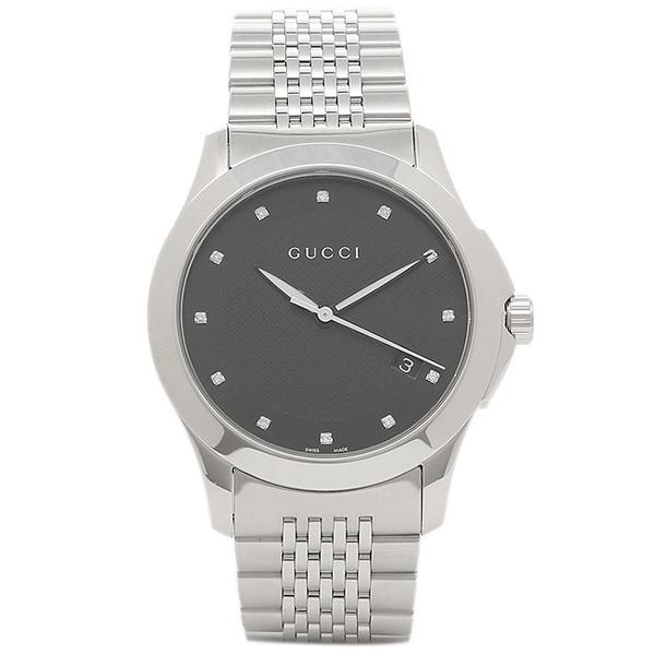 GUCCI メンズ 腕時計 グッチ YA126405 ブラック シルバー