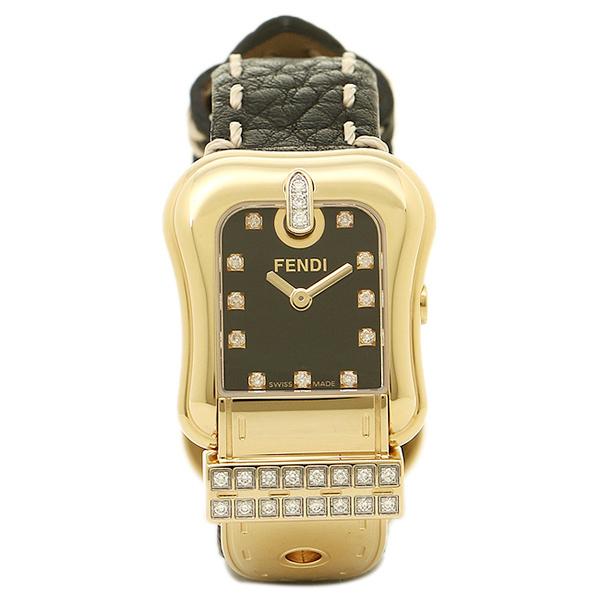 FENDI 腕時計 レディース フェンディ F384211DDC ブラック/ゴールド