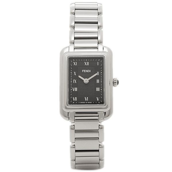 フェンディ 腕時計 レディース FENDI F701021000 ブラック/シルバー