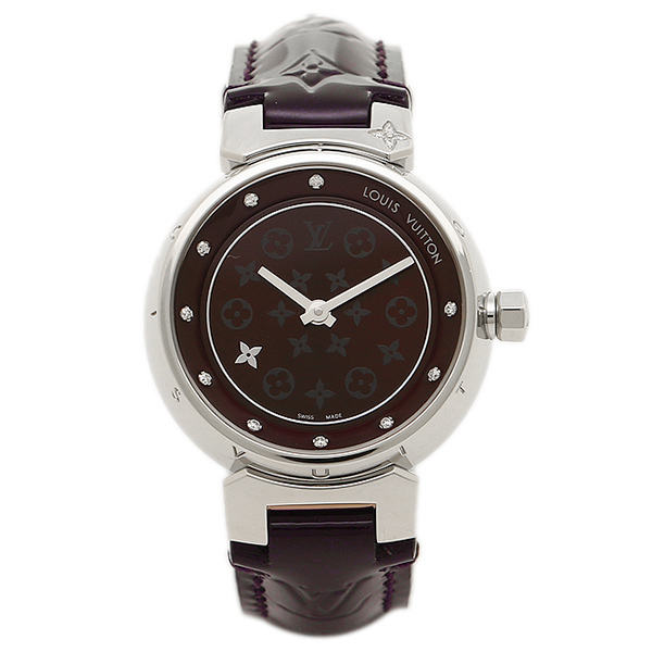 ルイヴィトン 腕時計 LOUIS VUITTON Q12M30 28mm アマラント シルバー