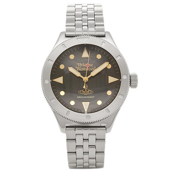 VIVIENNE WESTWOOD ヴィヴィアンウエストウッド メンズ腕時計 VV160BKSL ブラック シルバー