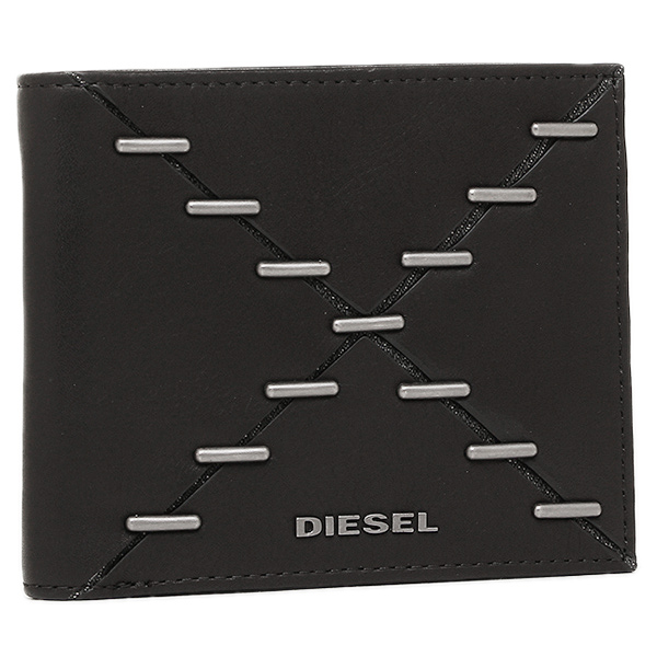 DIESEL ディーゼル 折財布 X04121 PS778 H1669 ブラック
