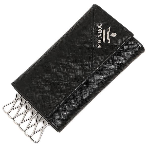 信憑 PRADA プラダ キーケース バーゲンセール メンズ QME F0002 ブラック 2PG222