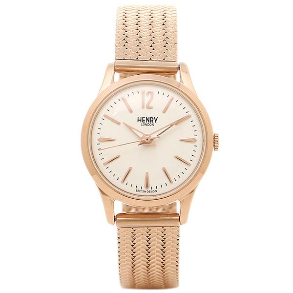 HENRY LONDON ヘンリーロンドン 腕時計 HL25-M-0022 ロ-ズゴ-ルド ホワイト