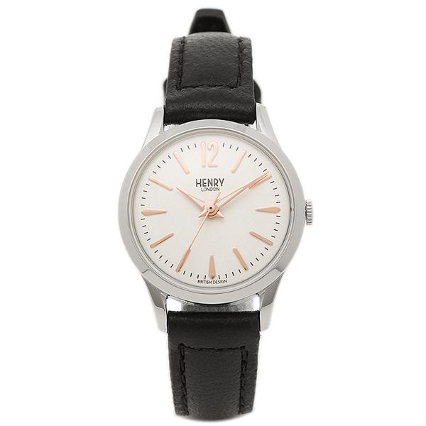 HENRY LONDON ヘンリーロンドン 腕時計 HL25-S-0113 ブラック シルバ- ホワイト