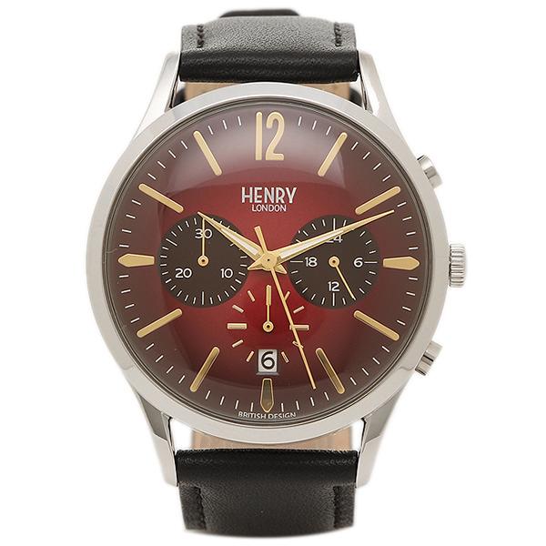ヘンリーロンドン 腕時計 HENRY LONDON HL41-CS-0099 ブラック シルバ- レッド