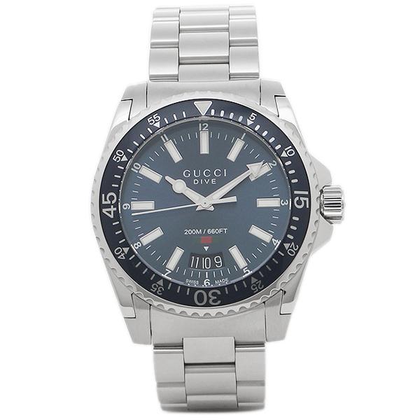 GUCCI 腕時計 メンズ グッチ YA136311 ブラック シルバー