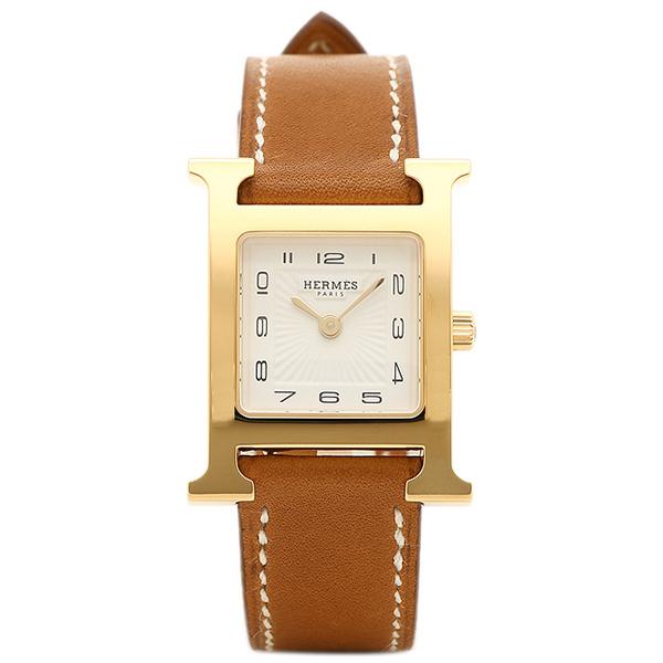 エルメス 腕時計 レディース HERMES HH1.201.131/VBA W036734WW00 ブラウン ホワイト イエローゴールド