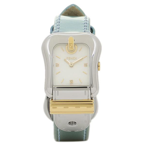 FENDI 腕時計 レディース フェンディ F380124581D1 ホワイトパール シルバー グリーン