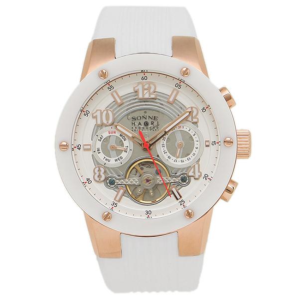 ゾンネ 腕時計 SONNE H017PG-WH      ホワイト ローズゴールド