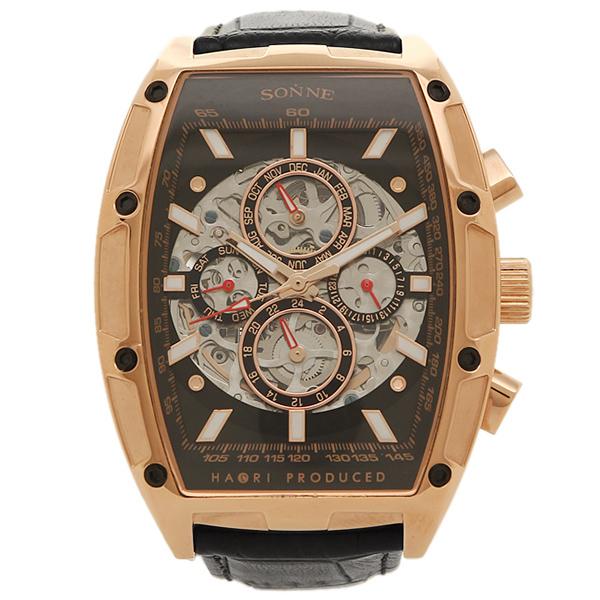 ゾンネ 腕時計 SONNE H018PG-BK      ブラック ローズゴールド