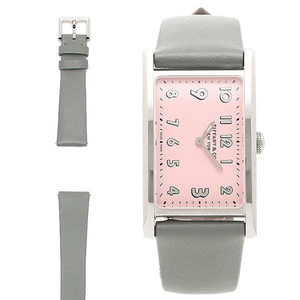TIFFANY&Co. 腕時計 ティファニー 37093335 グレー シルバー ピンク