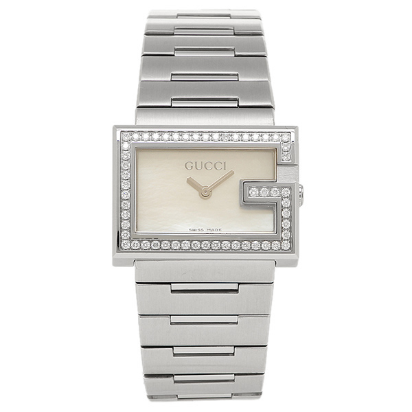 GUCCI グッチ Gレクタングル YA10510 ホワイト/シルバー レディースウォッチ/腕時計