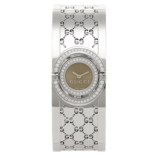GUCCI 時計 レディース グッチ トワール 腕時計 ウォッチ ブラウン/シルバー