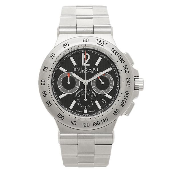 メンズ ブルガリ 腕時計 ディアゴノプロフェッショナル シルバー/ブラック 時計 BVLGARI ウォッチ DP42BSSDCH